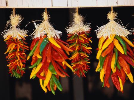 Hanging chilis
