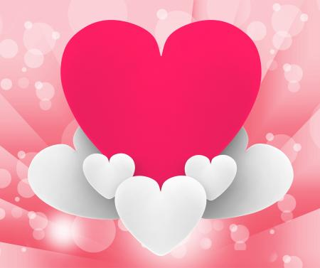 Heart On Heart Clouds Shows Romantic Dream Or Peaceful Relationship