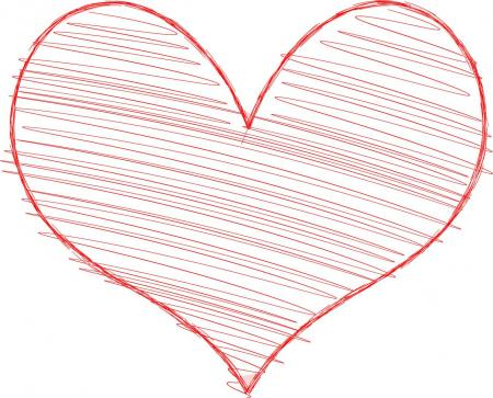 Heart with Scribble Fill