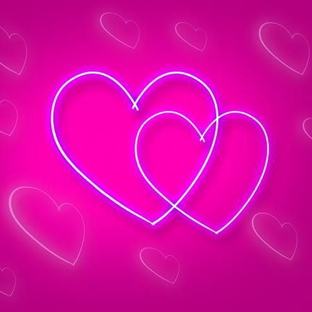 Hearts Intertwinted Represents Passion Background And Relationship
