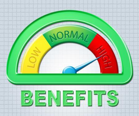 High Benefits Represents Bonus Scale And Gauge