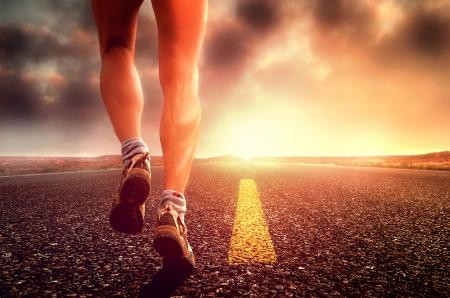 Hit the Road - Long Distance Runner on the Road