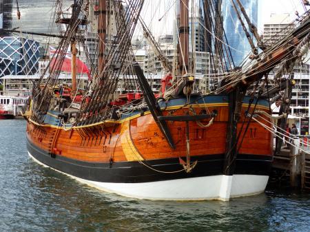 HM Bark Endeavour Replica