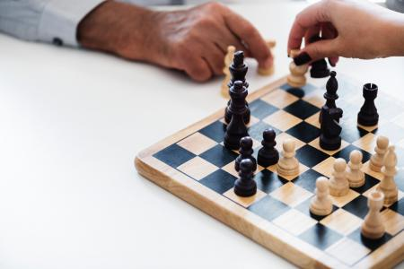 Human Playing Chess