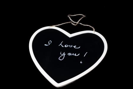 I love you - Text on Chalkboard
