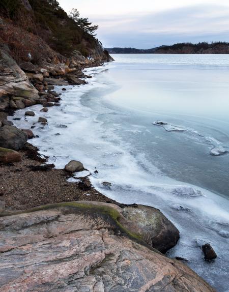 Ice on Gullmarn fjord at Holma boat club 4
