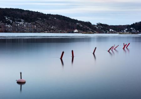 Ice on Gullmarn fjord at Holma boat club 5