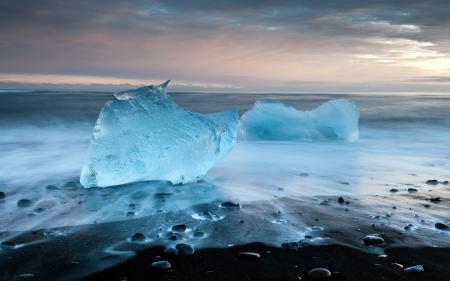 Icey beach