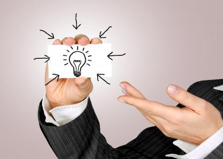 Idea on Business Card - Eureka Moment