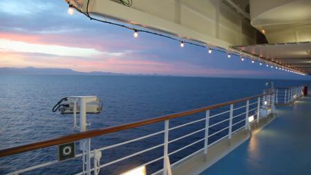 Illuminated ship deck