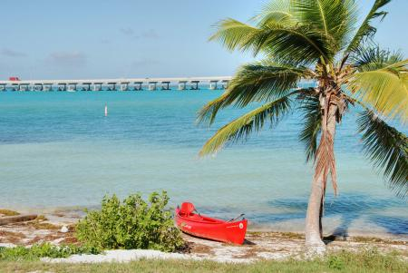 In the middle of the Keys, Florida, Janu