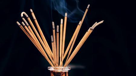 Incense sticks burning