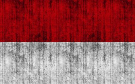 Indonesia Grunge Flag