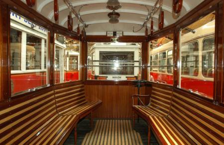 Interior old tram