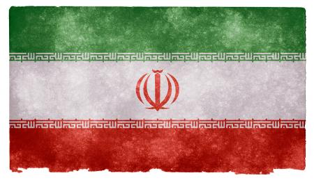 Iran Grunge Flag