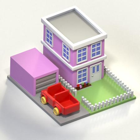 Isometric toy house