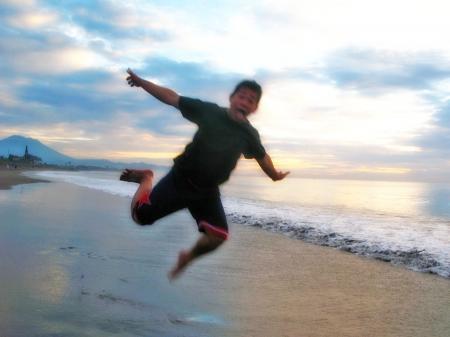 Jump to fly along the coast
