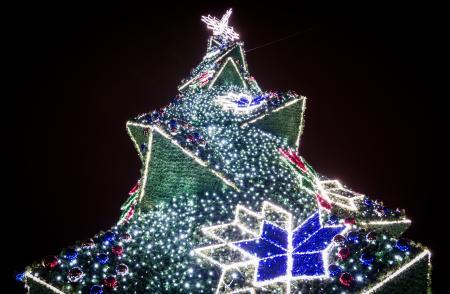 Krakow Main Market Christmas Tree, Poland