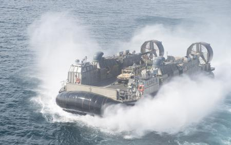 Landing Craft Air Cushion at Sea