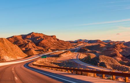 Landscape Photography of Rock Formation Near Highway