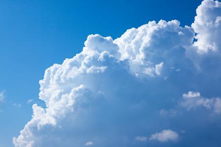 Large Cloud in Blue Sky