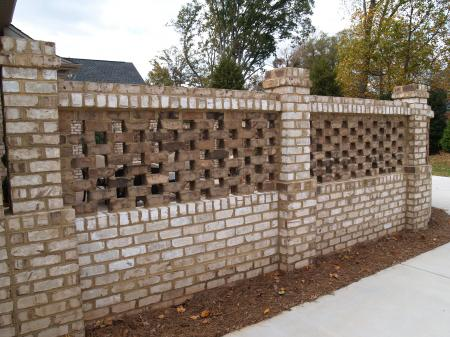 Lattice Brick Wall