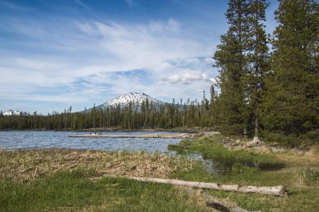 Lava Lake, Cascade Lakes Scenic Byway, Oregon, Mt. Bachelor