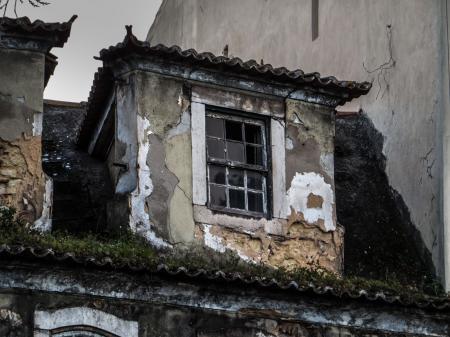 Lisbon architecture - old window