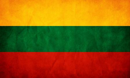 Lithuania Grunge Flag