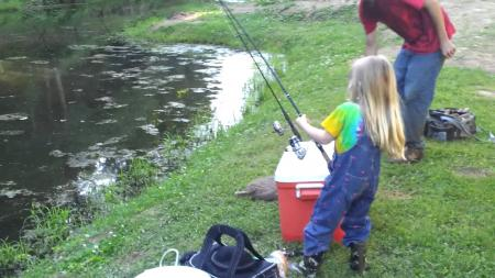 Little fisher girl