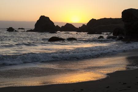 Lone Ranch Beach Oregon at sunset