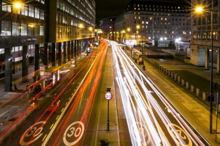 Long Exposure Traffic at Night
