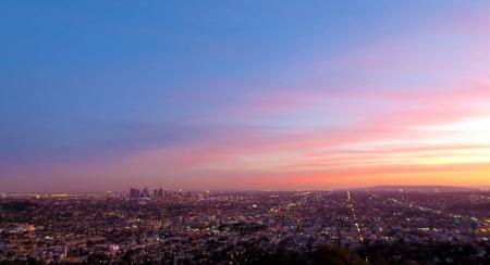 Los Angeles at twilight from Griffith Observatory