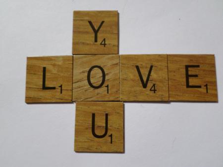 Love you scrabble style tiles