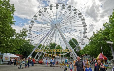 Low Angle Photography White Ferris Wheel