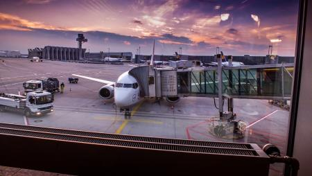 Lufthansa Boeing 737, Frankfurt Airport