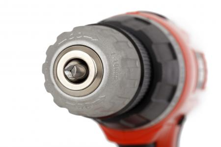 Macro Shot Image of Red and Black Drill