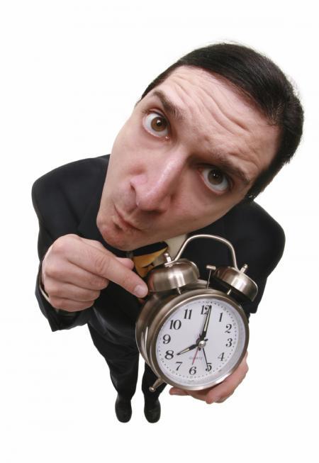 Man with clock