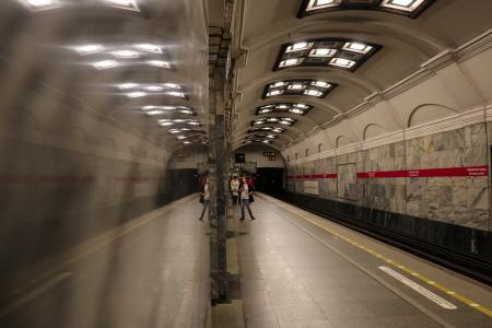 Marbel reflection -Saint Petersburg subway