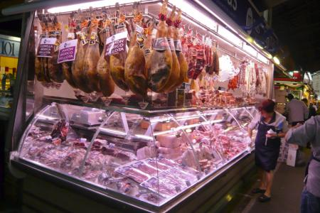 Market meat stall
