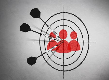 Marketing - Target groups and clients concept