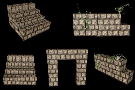 Medieval Stone Wall Set