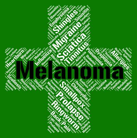 Melanoma Word Represents Skin Cancer And Affliction