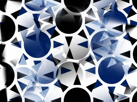Melba-Black, Blue and White