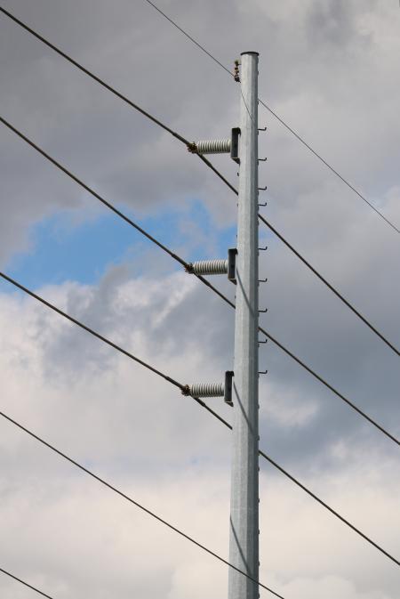 Metal Power Pole