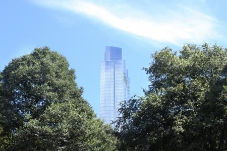 Millenium tower building in Boston