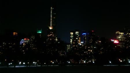 Mobilfoto. Central park natt