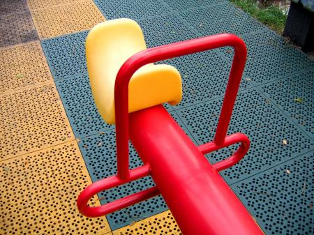 Modern Seesaw at a Playground