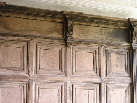 Molded wood panel