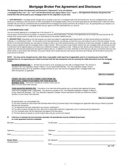 Mortgage Agreement Document